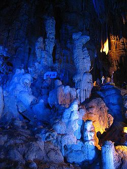 Flowstones and Mushroom Rocks inside Abukuma-do Cave.JPG