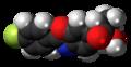 Flunoxaprofen molecule spacefill.png