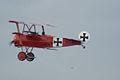 Fokker Dr.I Manfred Richthofen Takeoff 07 Dawn Patrol NMUSAF 26Sept09 (14596623671).jpg