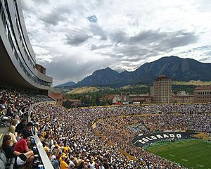 View towards south end of Folsom Field