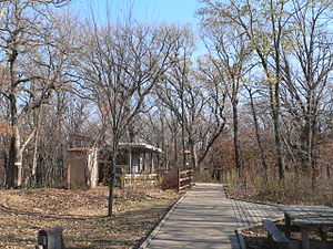 Fontenelle Forest - Boardwalk trail on upper level of Fontenelle Forest, near visitor center