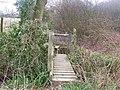 Footbridge and stile on footpath - geograph.org.uk - 1209072.jpg