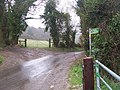 Footpath and byway on Buckland Road - geograph.org.uk - 1227229.jpg
