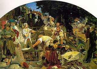 <i>Work</i> (painting) painting by Ford Madox Brown, 1st. Version (Manchester)