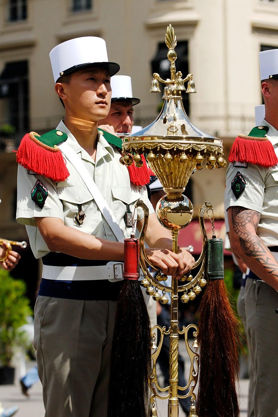 Foreign Legion Chinese hat Bastille Day 2008