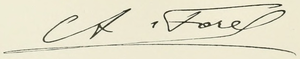 Auguste Forel - Image: Forel Signature (cropped)