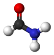 Ball and stick model of formamide