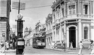 Fortaleza - Tram in Floriano Peixoto St., 1930