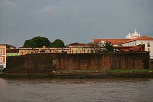Forte do Presépio - View of the fort from the Guajará River