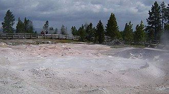 Mudpot - Image: Fountain Paint Pots in Yellowstone 750px