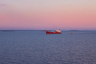 Skagerrak - A cargo ship on Skagerrak.
