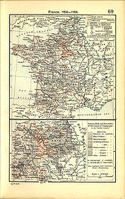 Burgundy within 12th century France, map by William R. Shepherd.