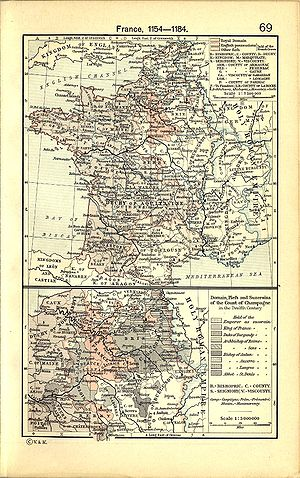 Bordeaux wine - Map of the French provinces (including Bordeaux) assimilated by the Plantagenet-Aquitaine union