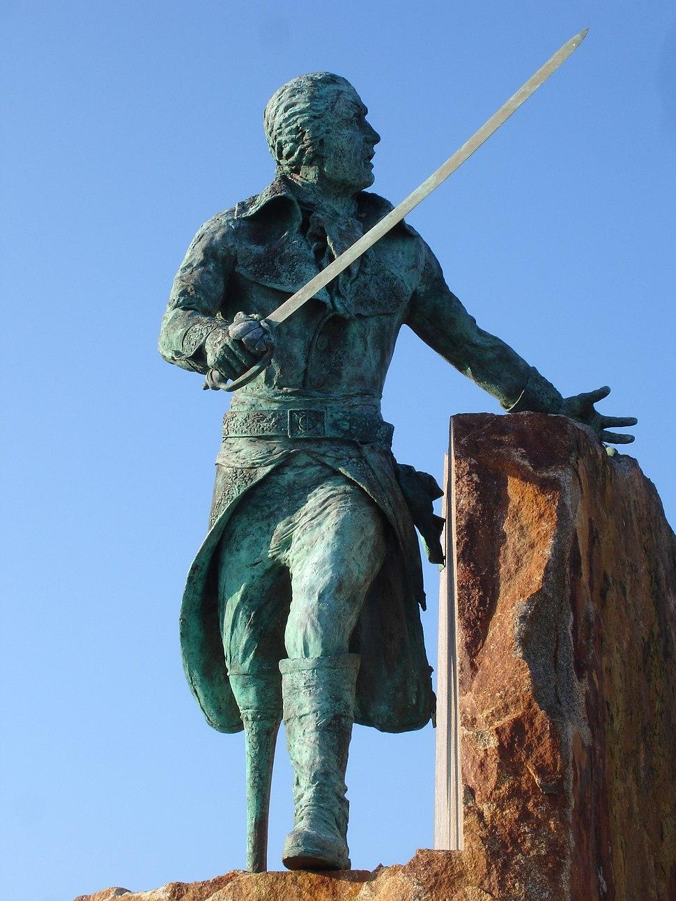 France Manche Granville statue corsaire