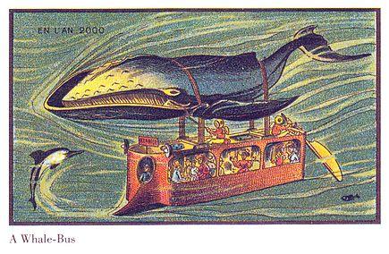 «Китовый автобус». Французская карточка 1899 года