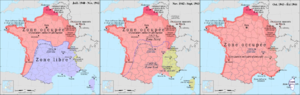 Françoise Frenkel - Image: France map Lambert 93 with regions and departments occupation evolution