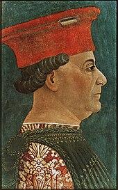 Francesco Sforza ritratto da Bonifacio Bembo (Milano, Pinacoteca di Brera)
