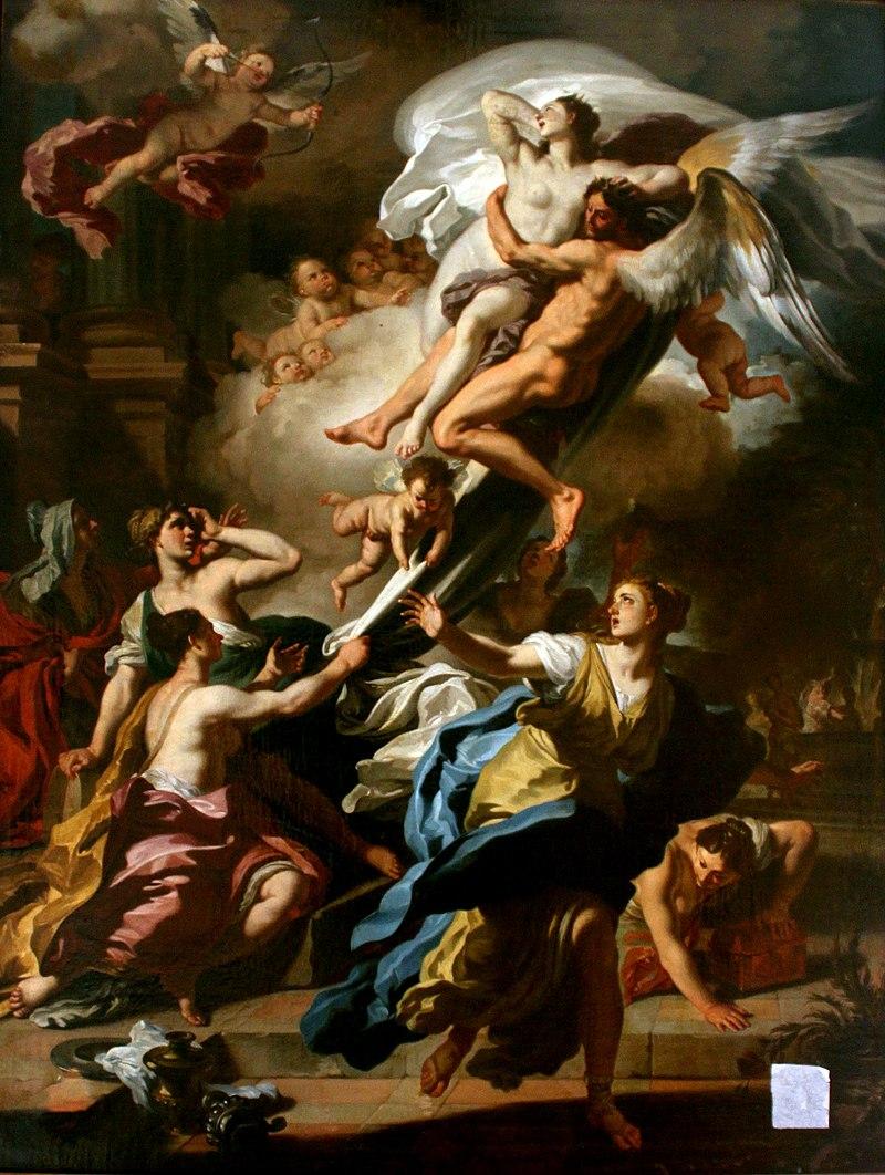 Борей похищает Орифию, картина Франческо Солимены
