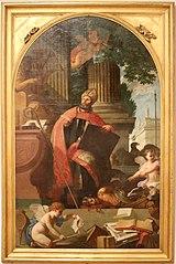 Saint Augustine defeats heresy