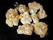Lumps of dried Frankincense resin