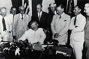 Federal Deposit Insurance Corporation - President Franklin Delano Roosevelt signs the Banking Act of 1935.