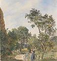 Franz Alt Frau mit zwei Kindern in einer Parklandschaft 1883.jpg