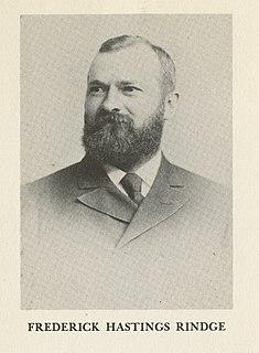 Frederick H. Rindge American businessman