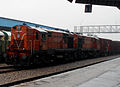 Freight train with WDM2 series loco of MLY at Bolarum 02.jpg