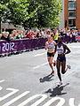 Freya Murray (Great Britain) Beata Naigambo (Namibia) -London 2012 Women's Marathon.jpg