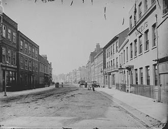 Friar Street, Reading - Friar Street looking west, c. 1875 by Henry Taunt