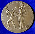 Friedrich Schiller, German Poet and Surgeon 100th Death Anniversary Medal Vienna 1905, reverse.jpg