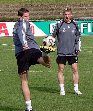 Training ground (association football) - Image: Friedrich und Schweinsteiger 2005