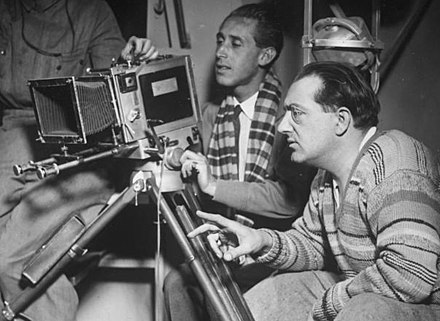 Fritz Lang directing a movie - Film director