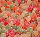 Fruit flavoured gumdrops