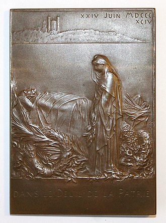 Marie François Sadi Carnot - Image: Funérailles Sadi Carnot revers