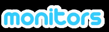 English: social media monitors logo
