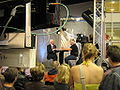 Göran Hägg interwieving Jan Guillou at Bokmässan 2008 b.jpg