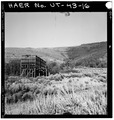 GENERAL VIEW OF THE MINE SITE, LOOKING EAST - Jones Mine, Scofield, Carbon County, UT HAER UTAH,4-SCOF,1-16.tif