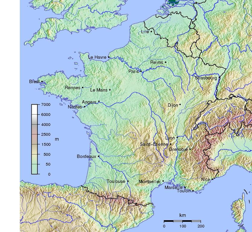France Major Cities Images - Major cities in france