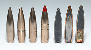 Spitzer (bullet) - Swiss 7.5×55mm GP 11 Full Metal Jacket, Armor Piercing, and Tracer projectiles.