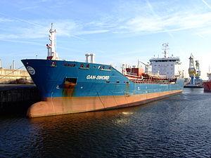 Gan-Sword IMO 9348297 in locks of IJmuiden, Port of Amsterdam, Holland.JPG