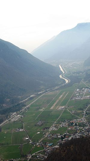 San Vittore, Switzerland - San Vittore airport and village