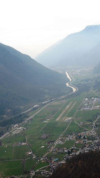 San Vittore, Switzerland - San Vittore airport and village