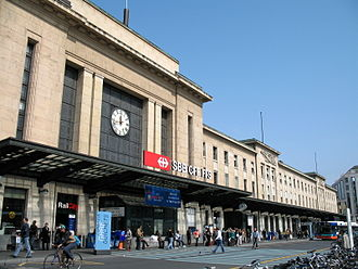 Genève-Cornavin railway station - The main (south) entrance to the station building