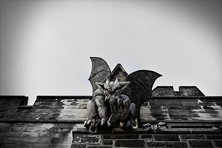 Gargoyles at eastern state penitentiary