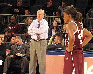 Gary Blair - Gary Blair (and Jordan Jones) at the Maggie Dixon Classic in Madison Square Garden 22 Dec 2013