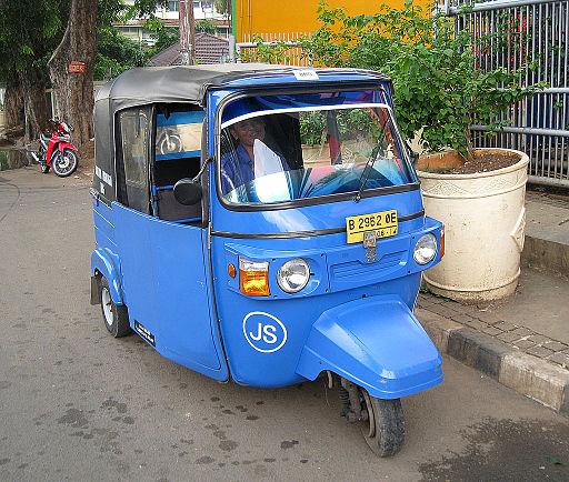 Gas Fuelled Bajaj in Jakarta