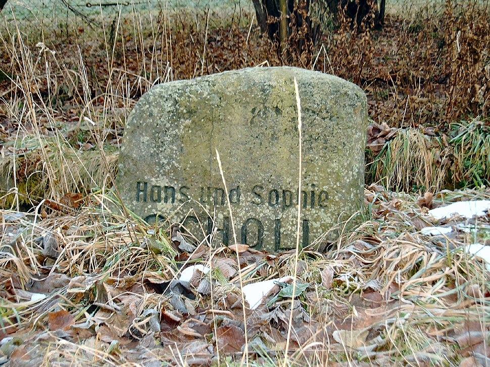 Gedenkstein Geschwister Scholl Wehrsdorf