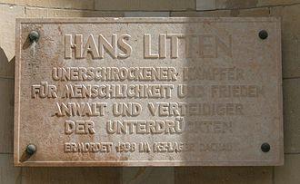 Hans Litten - Memorial for Hans Litten in Berlin-Mitte