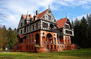Mansion - Gelbensande Manor, an 1885 Gründerzeit style mansion built for hunting, near Rostock, Germany.